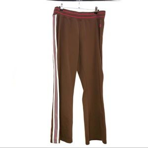 North Face ( L ) Women's Brown Striped Track Pants